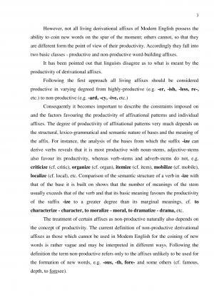 prefixation inthe english language and its
